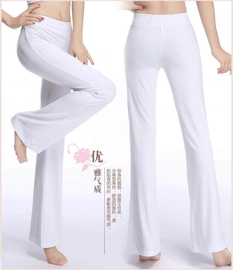 Wanita Olahraga Kebugaran Kasual Yoga Celana Perempuan Lebar Kaki Celana Tari Praktek Celana Panjang