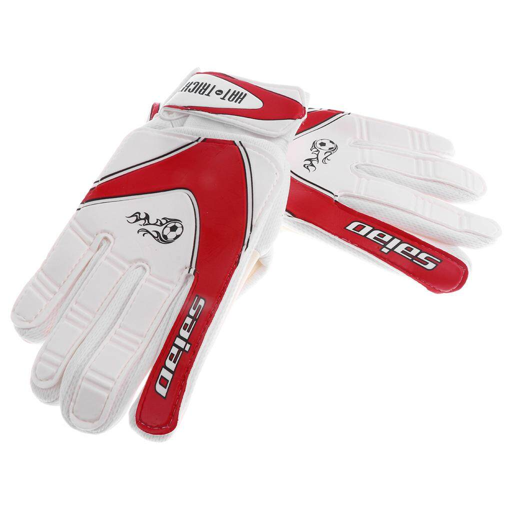 Miracle Shining Soccer Goalie Goalkeeper Gloves Pro Football Finger Saver For Kids Red By Miracle Shining.