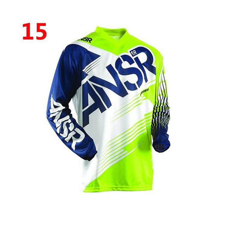 Kecepatan Setelan Jas Sepeda Cross-Country Motor Setelan Balap, Lengan Panjang T-Shirt