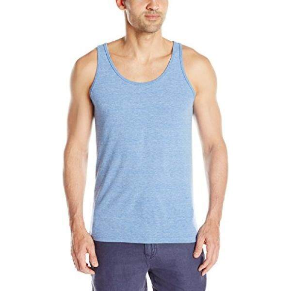 American Apparel Mens Tri-Blend Tank, Athletic Blue, - intl