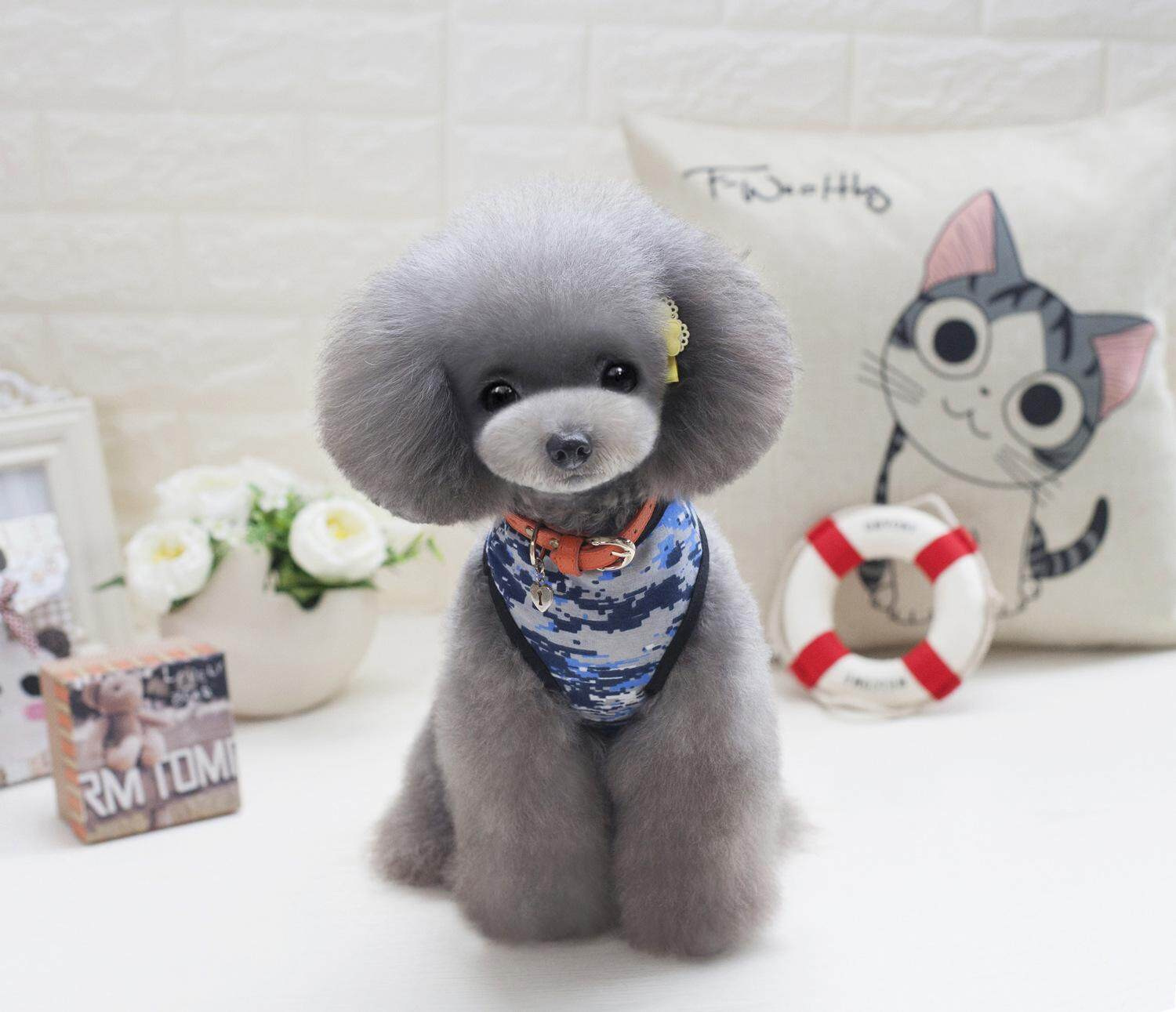 Hình ảnh Summer Cotton Cute New Fashion Small Dog Clothes Camouflage Military Army Pet Dog Vest Lovely Sleeveless Apparel