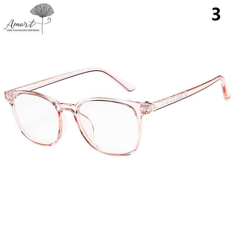 Amart Fashion 1 Pcs Vintage Kacamata Lensa Bening Eyewears Radiasi Perlindungan Tahan Debu Untuk Wanita Pria By Amart.