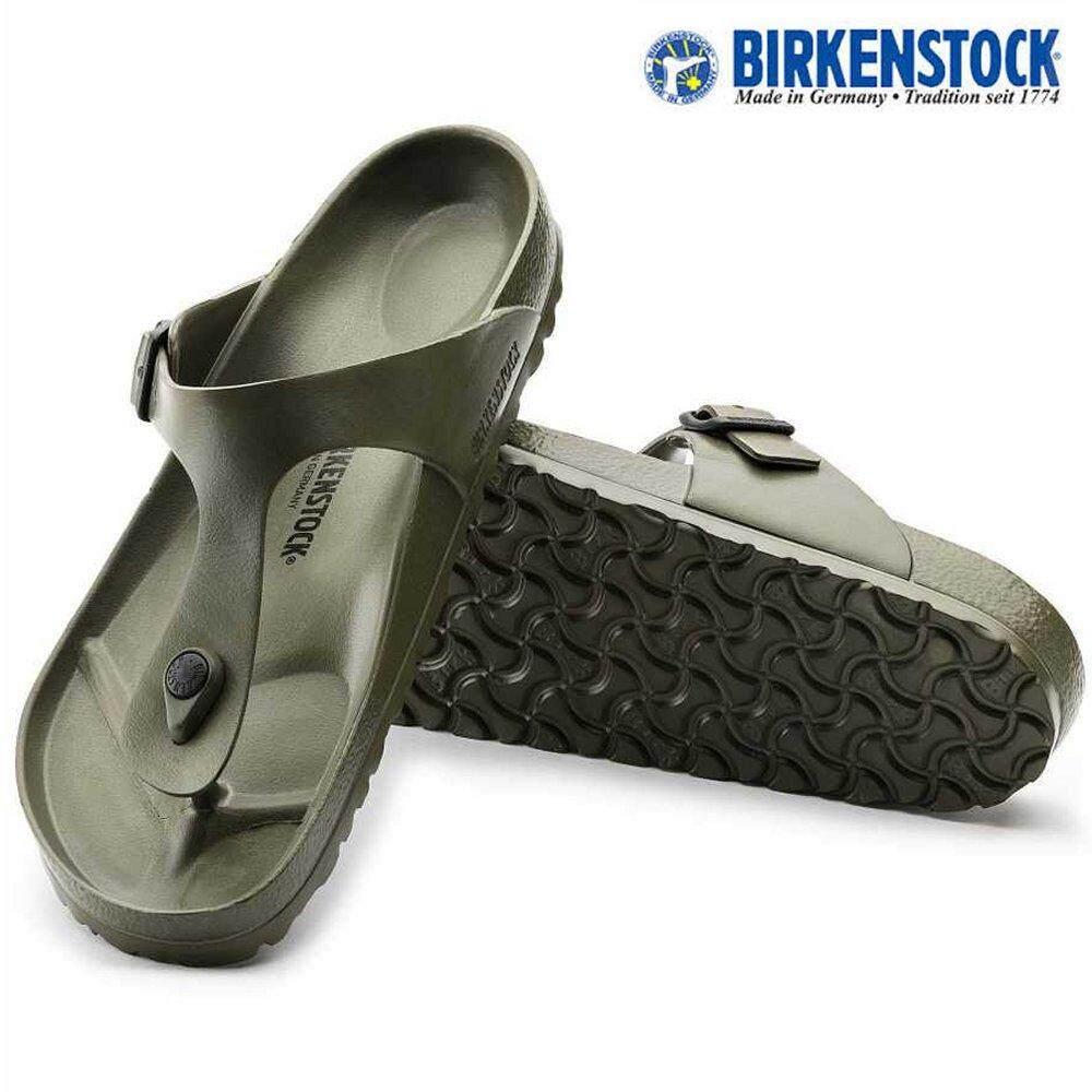 1b8db7e44c5 Birkenstock Unisex 128271 Original Gizeh EVA Khaki Sandals Birko-Flor®