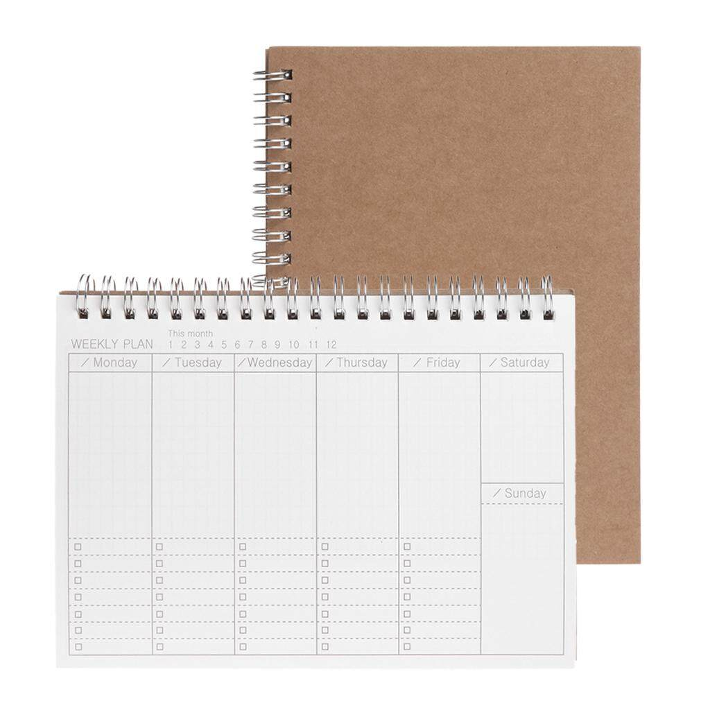 Mua Planner Book Monthly Weekly Daily Agenda Schedule Blank Diary DIY Study Notebook - intl