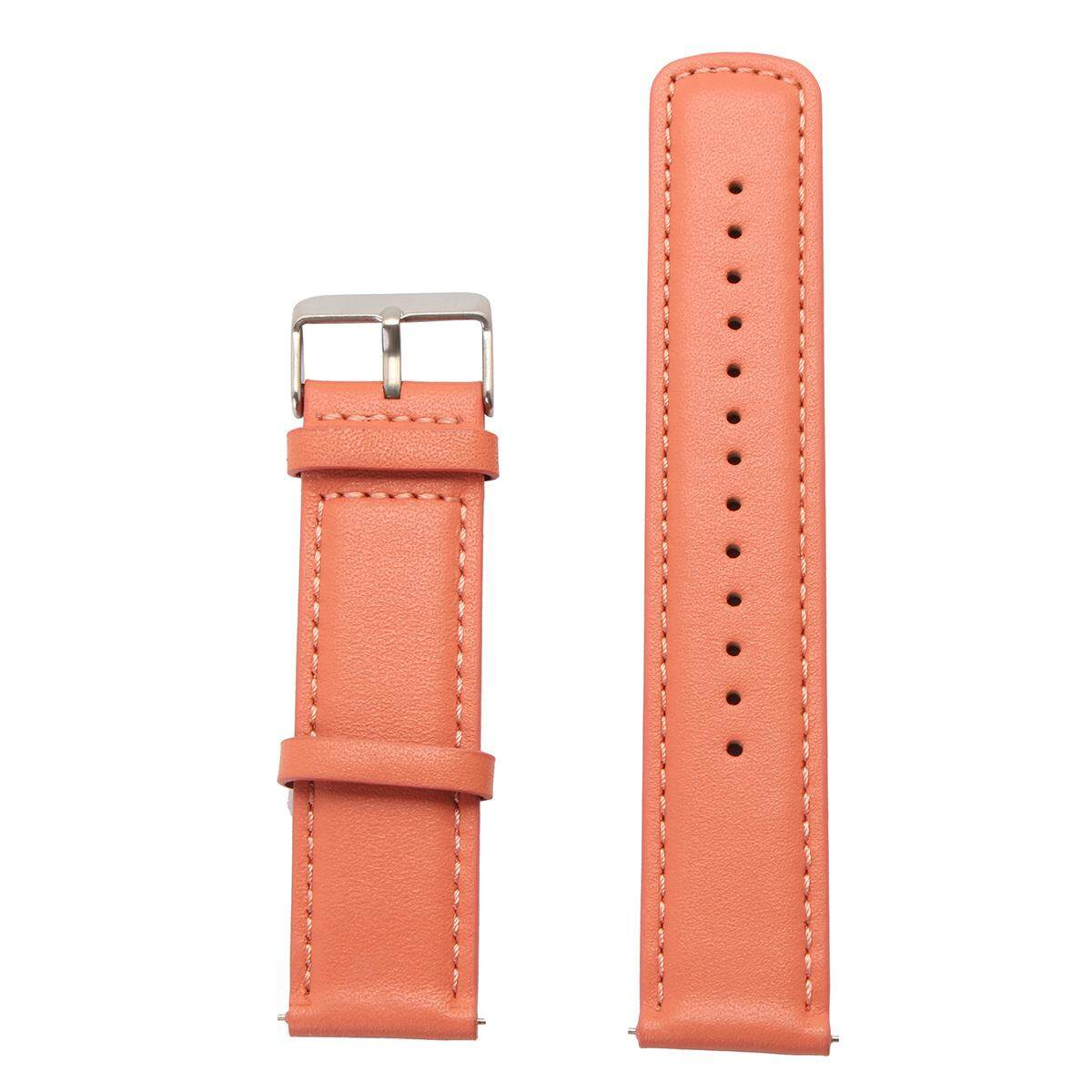 Hình ảnh 22Mm Leather Watch Band Strap Bracelet Pebble Time Steel for Samsung Galaxy Gear 2 S - intl