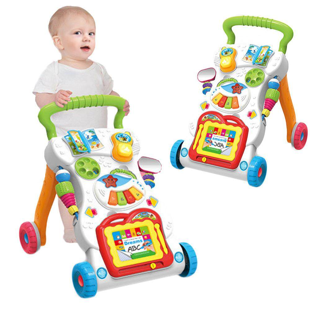 Multi-Function Baby Walker Toddler Trolley Sit-To-Stand Abs Musical Walker Speed Adjustment Walking Learning Car By Tvcc.
