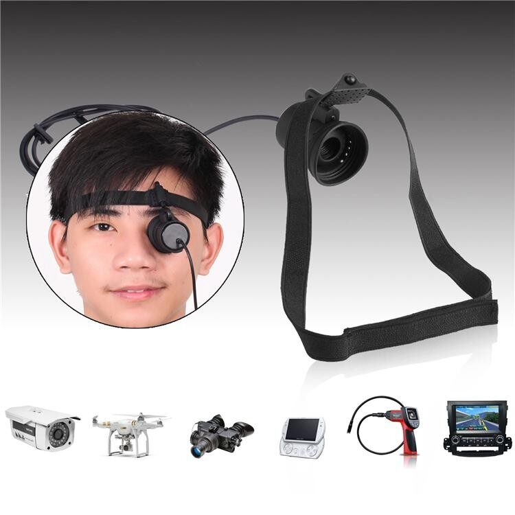 80 Inch Monocular Mini Micro Display Hd Night Vision With Headband Goggles Av Series For Fpv Monitor By Glimmer.