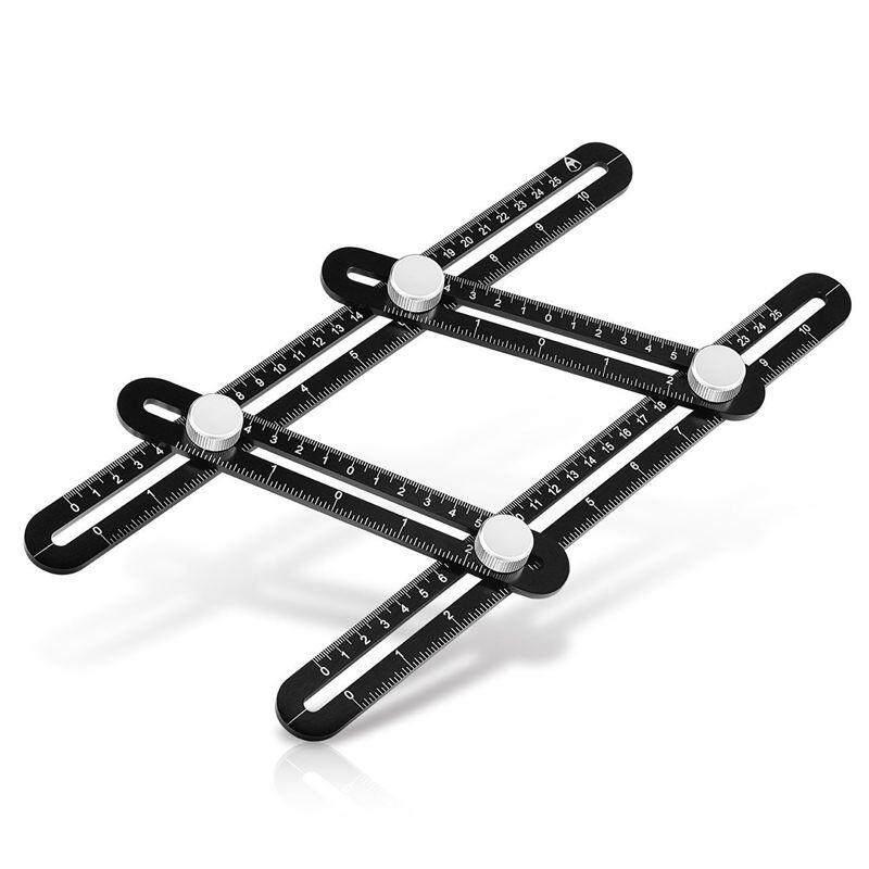 Easy Angle Ruler Multi-Angle Measuring Aluminum Alloy Template black