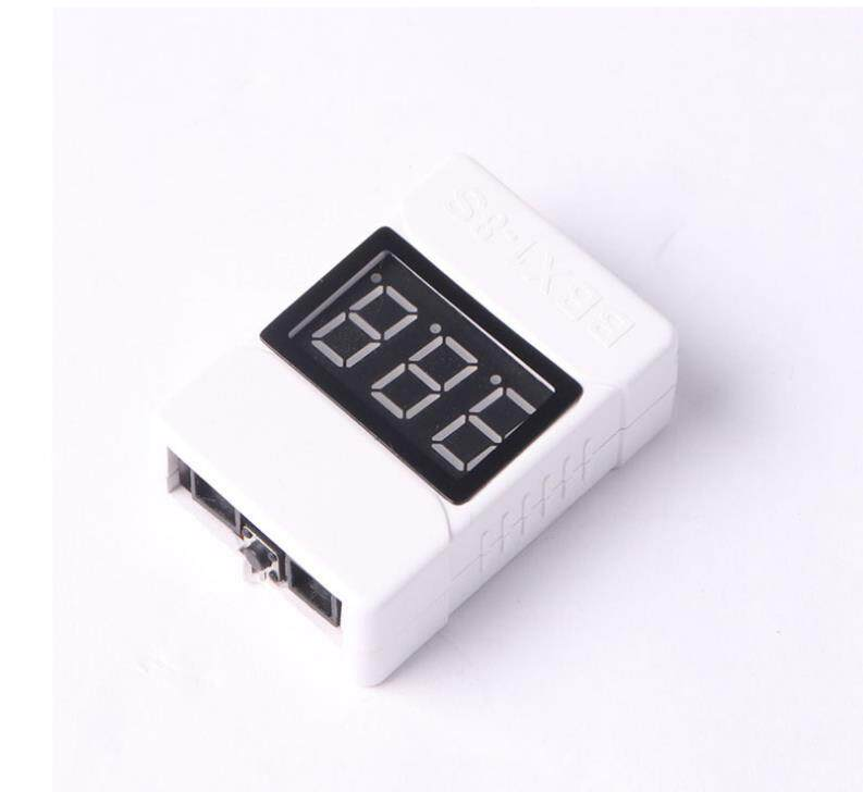 1-8S Low Voltage Battery Tester Buzzer Alarm 3.6-32V LED Volt Meter Lipo Voltage Indicator Checker Prevent Reverse Connection