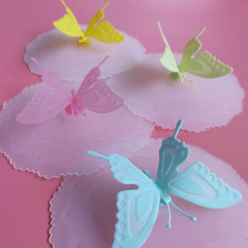 ... Gambar Produk Rinci lucky G Anti dust High Quality Silicone Elegant Butterfly Sealed Glass Tea Cup