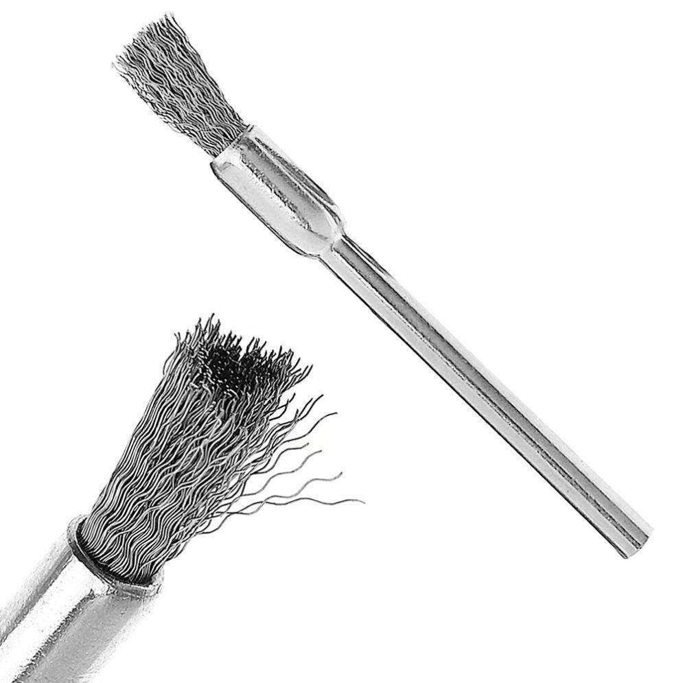 Mini Polishing Steel Wire Brush Pen Type with Handle for Cleaning / Grinding / Polished