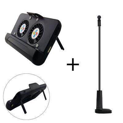 USB Charging Smart Phone Radiator Heat Sink Cell Phone Holder with Black Live Streaming Pole