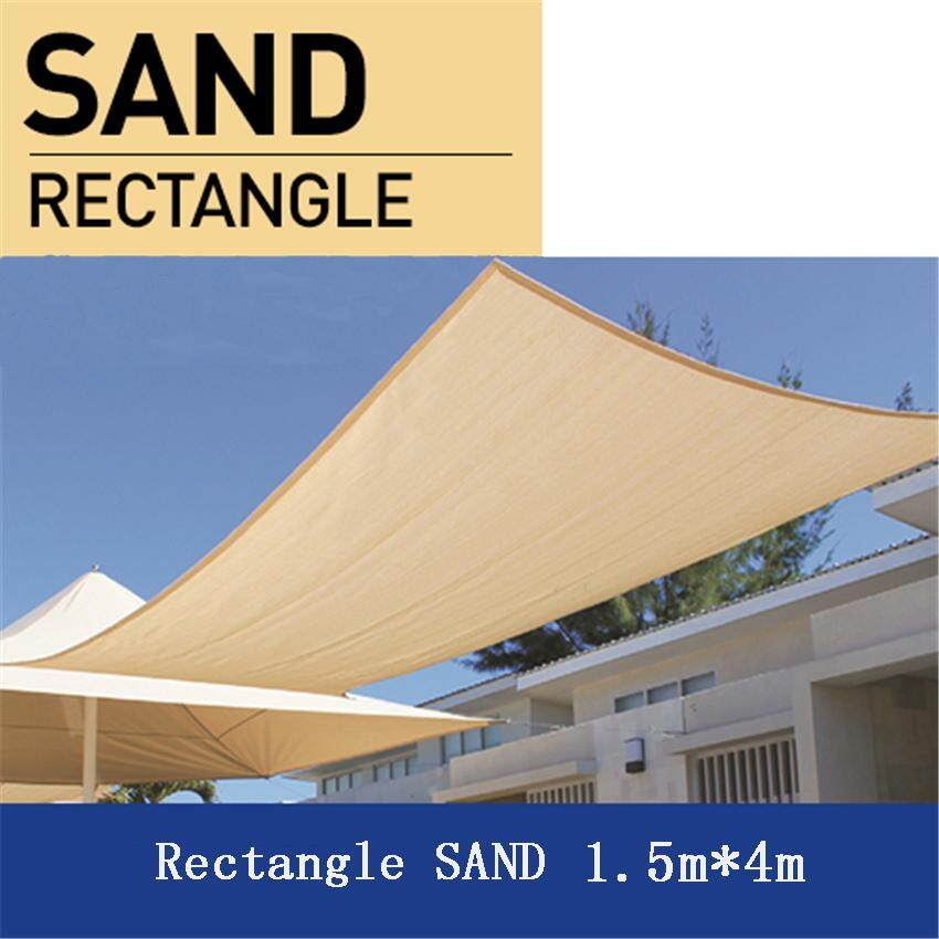 Rectangle SAND 1.5*4m 280gsm Shade Sail Sun Heavy Heat Resistant Outdoor Shading