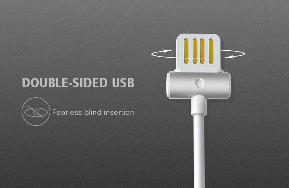 Remax Drum Pinggang Dual-Side Charger Usb Data Cabe untuk iPhone 7/8 8pin 1 M 2.1A Paduan Data Sinkronisasi Pengisian Daya Kabel untuk IPHONE 7/8 /Ipad-Intl