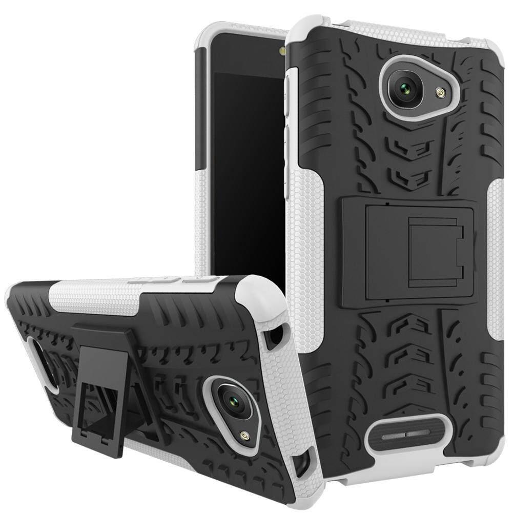 Upaitou Baja Kasus untuk Alcatel Pop 4 S Nampaknya Sulit TPU Kasar + PC Layar Ganda Protektif Case dengan Kickstand Penutup Belakang untuk Alcatel Pop 4 S Hybrid Potongan Pas Badan Casing Ponsel