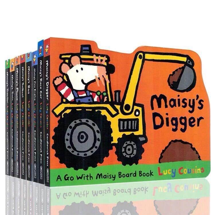 8 Books Maisy Anak Seri Pendidikan Bahasa Inggris Gambar Papan Cerita Kartu Buku By Joy Buy.