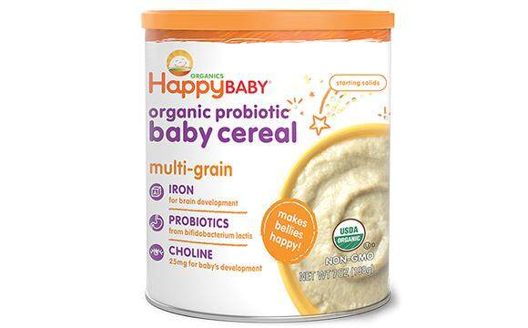 Happy Baby Organic Probiotic Baby Cereal (Multigrain) (198g)