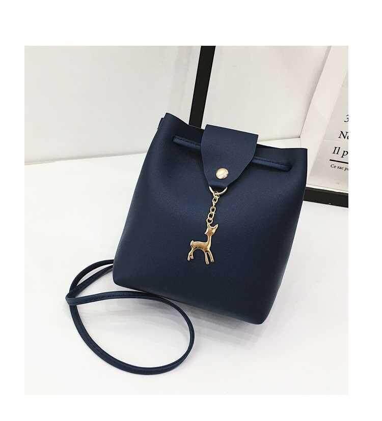 SoKaNo Trendz SKN625 Simple PU Leather Crossbody Bag Sling Bag With Deer  Charm Handbeg Wanita a1f27caf1b