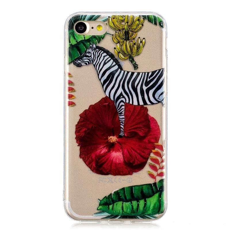 Sebagai Kecantikan iPhone 7 Iphone 7 Casing Belakang Ultra Ramping Cocok Transparan Ponsel TPU Lembut Case