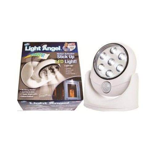 Light Angel Motion Sensor Activated Cordless Wireless Bright 7 LED Light Indoor Outdoor Night Security Safety Lamp Automatic with 360 Degree Rotation
