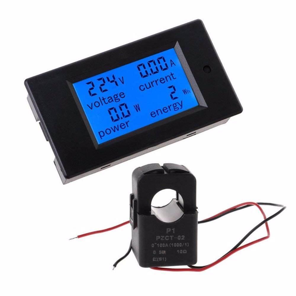 LITAO 4IN1 Digital AC 80-260V 100A Voltage Current Watt Power Energy Meter PZEM-061 with Split CT