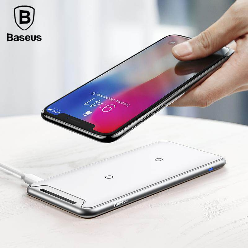 Baseus 10 W Triple Coils Qi Wireless Charger For Iphone X 8 Samsung S9 S8 Plus Fast Wireless Pad Charging Docking Station Dock.