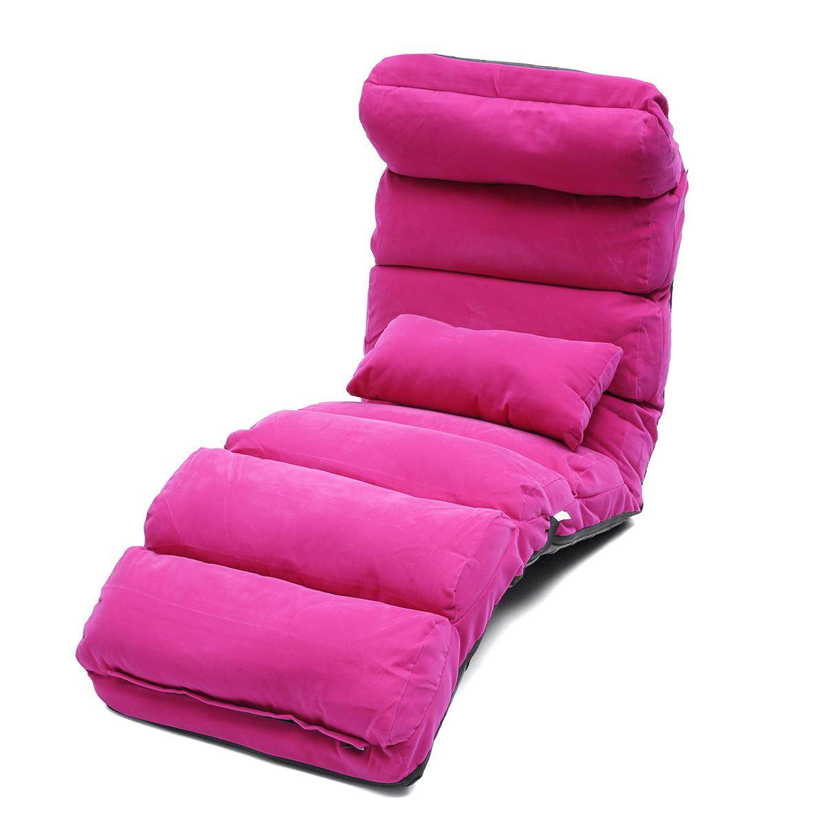 Lounge Sofa Bed Floor Recliner Folding Chaise Chair Adjustable Foldable AU Home Rose(Standard Size)