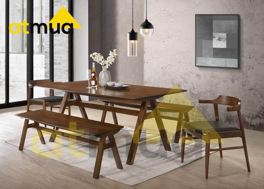 Atmua Vivo Dining Set (1 Table + 2 Bench Chair + 2 Chair) [