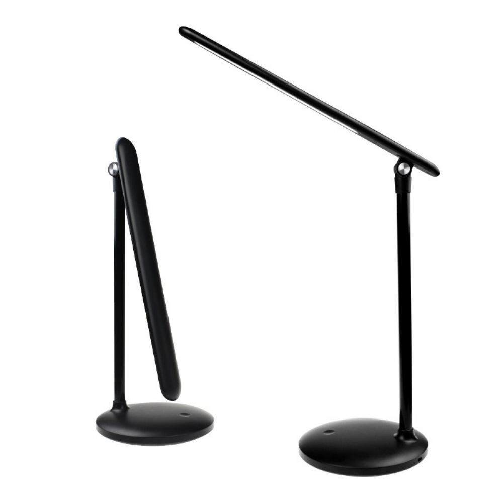 Foldable LED Stepless Dimming Table Light Desk Lamp Flexible Dimmer Bedroom Reading Study Eye Protection Night Light Black/0-5W Singapore