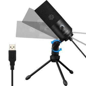 Harga preferensial Fifine K669 USB Mikrofon Kabel dengan Fungsi Perekaman untuk PC Laptop beli sekarang -