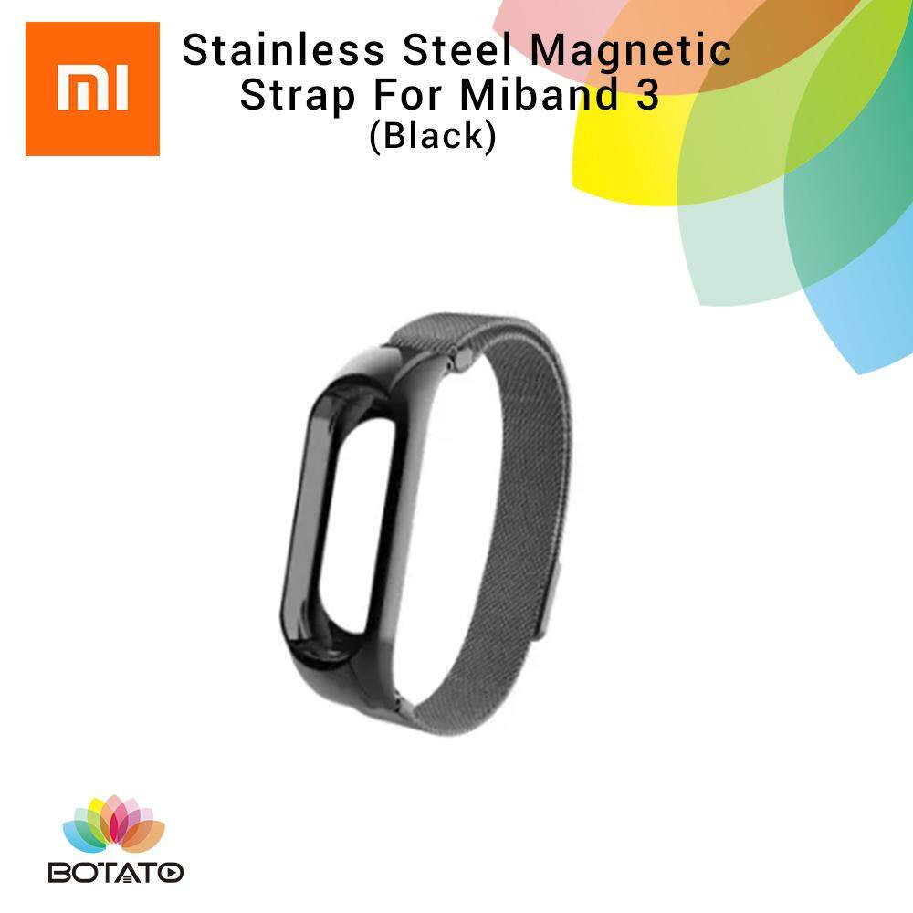 *Strap only* [[Stainless Steel Magnetic Strap]] for Xiaomi Mi Band 3 [[Botato Electronic]]
