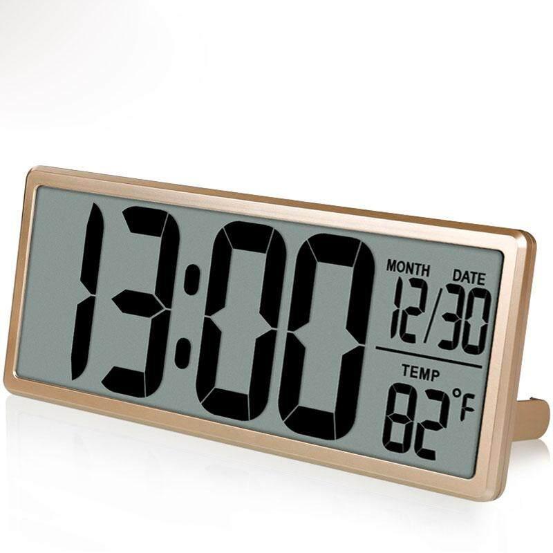 TXL 13.8 Large Digital Wall Clock Jumbo Digital Alarm Clock Oversized LCD Display Alarm Snooze Calendar Indoor Temperature
