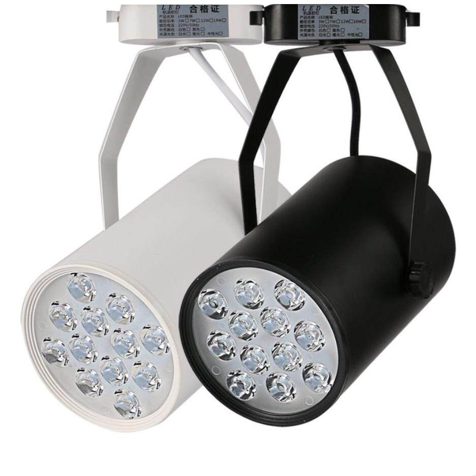 ES LITE LED TRACK LIGHT SMD LED 12W WARM WHITE 3000K BLACK CASING