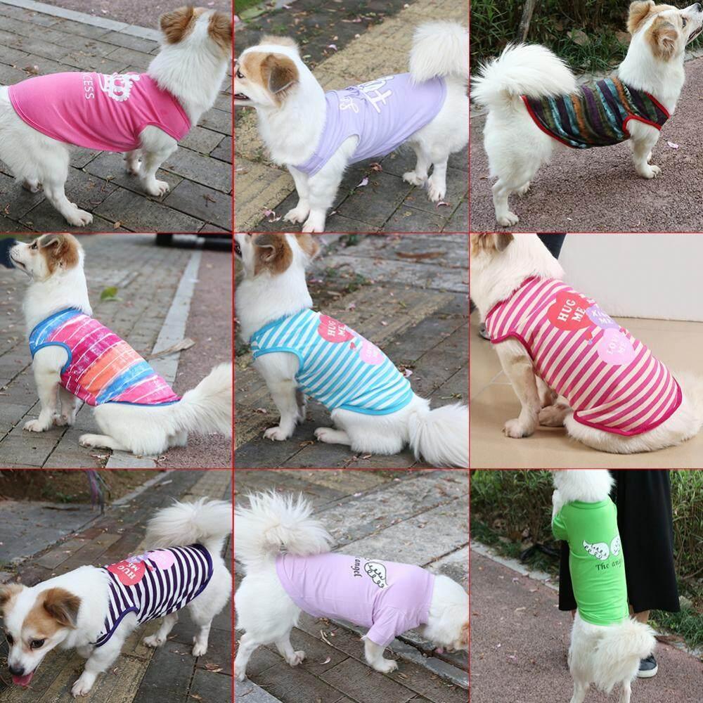 Peliharaan Anjing Kaus Kucing Rompi Kaus Musim Semi Sportwear Pakaian Pakaian (Malaikat .