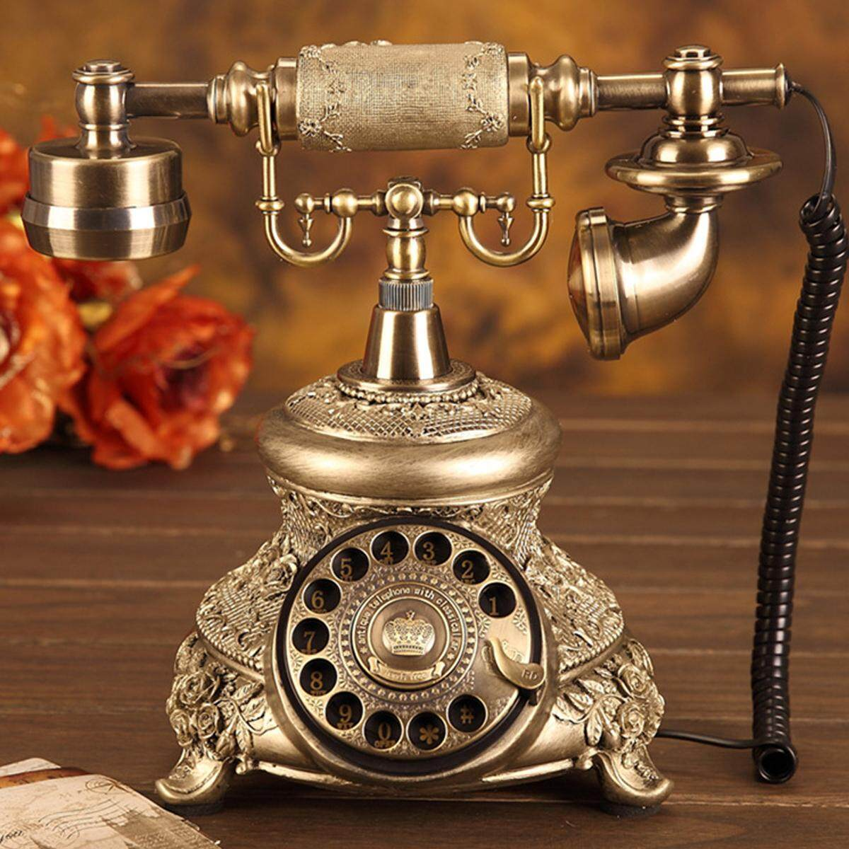 Telephone For Sale Landline Phone Prices Brands Specs In Wiring A Touch Tone Pad To Any Antique Conversion Retro Style Old Fashioned Handset Rotate Dial Home Intl