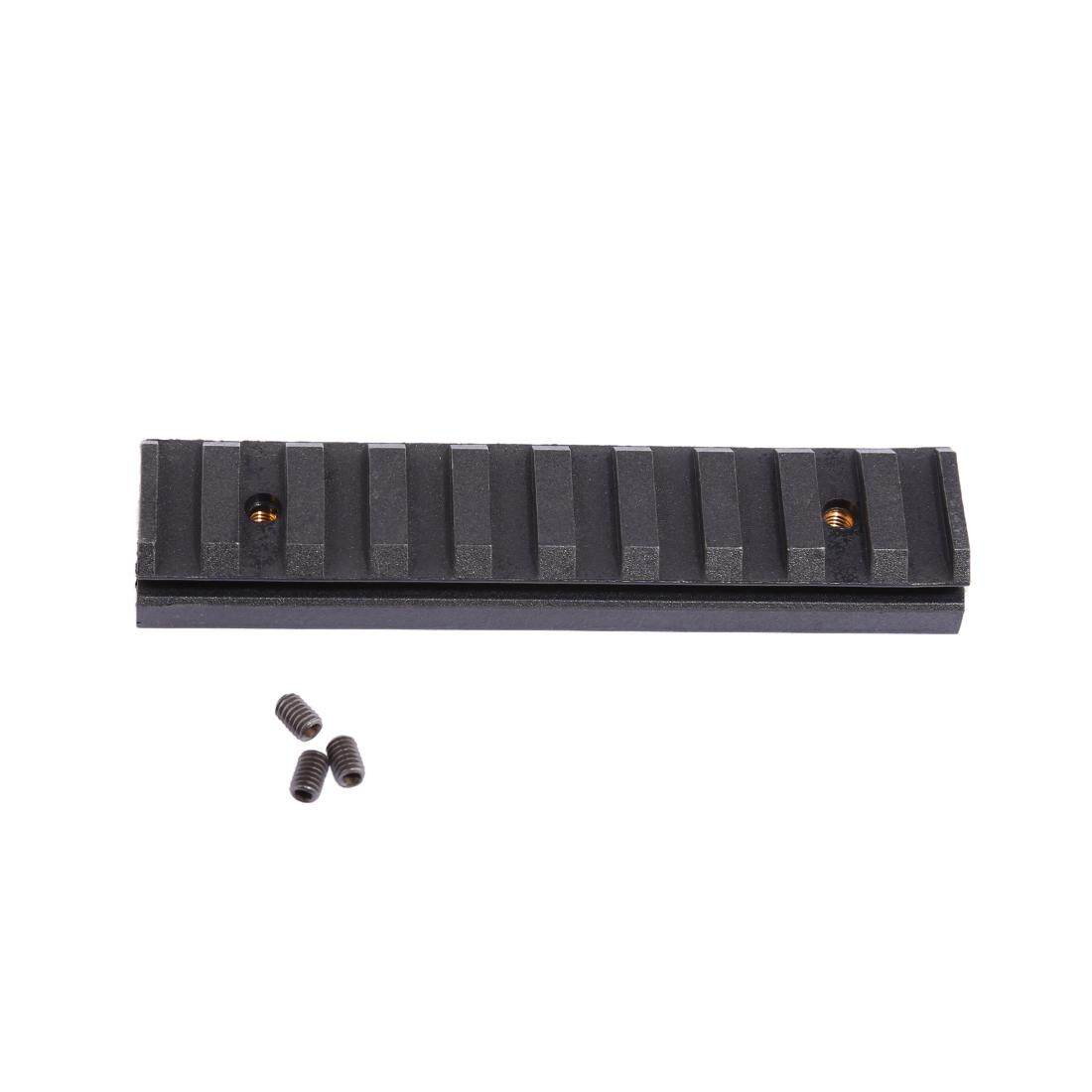 360WISH Worker 10CM Nylon Grooved Top Rail Mount Kit for Nerf with Track - Black