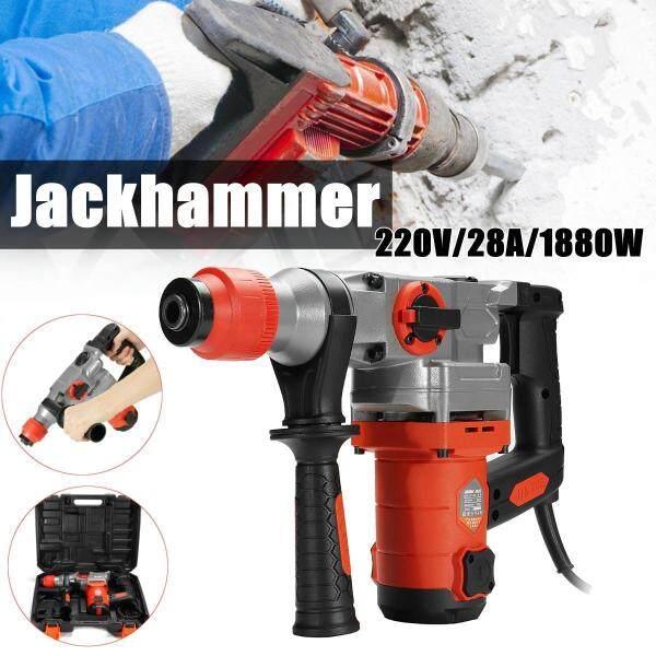 1000 RPM Electric Demolition Jack Hammer Concrete Breaker Punch Chisel Bit 1880W - intl