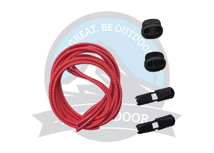 [READY STOCK] Lock laces Elastic Shoelace and Fastening System for Sports Shoes Running Shoes - Red