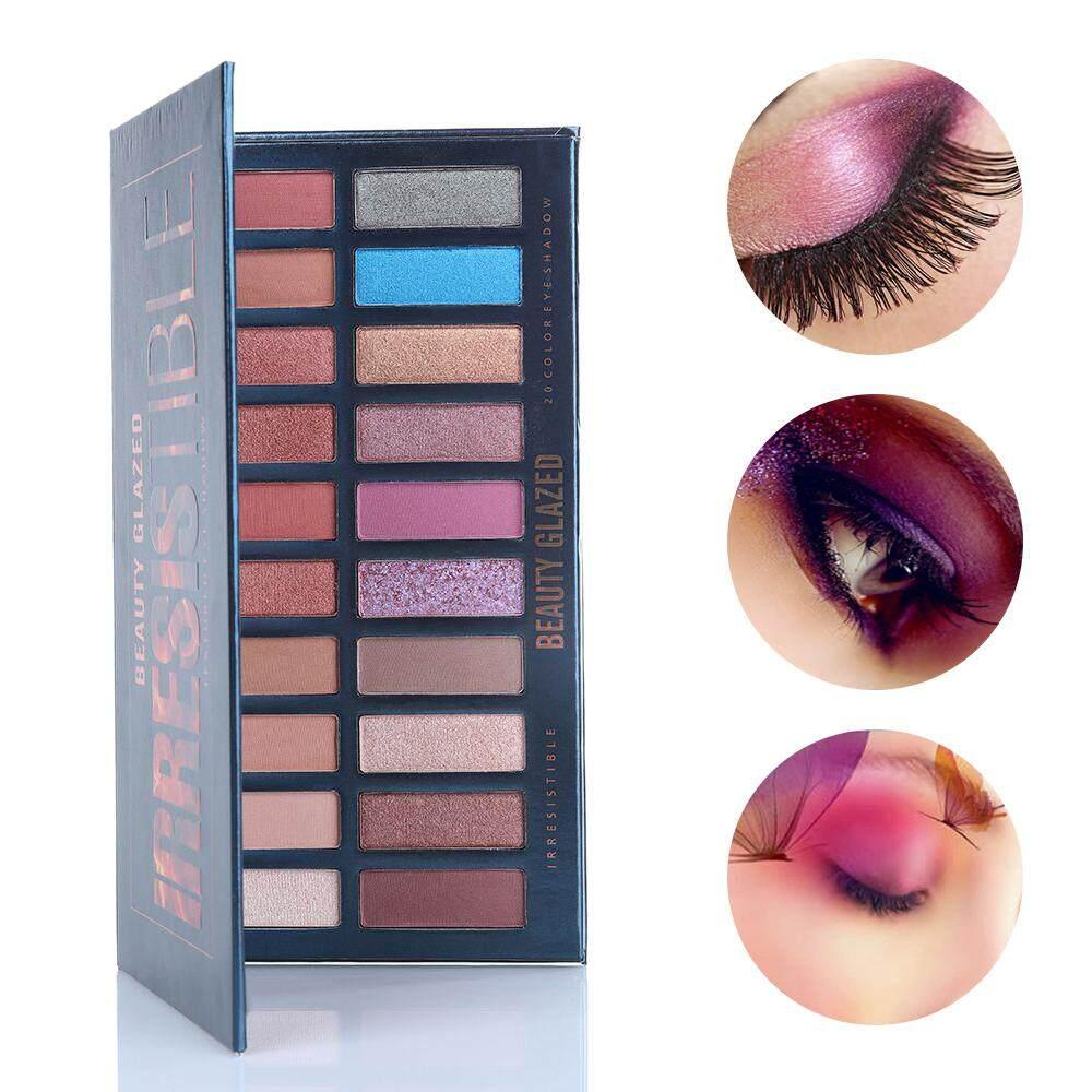 Kecantikan Mengkilap 20 Warna Eyeshadow Hiasan Palet Make Up Pigmen Matte Ditekan Mata Bayangan Alami Kosmetik