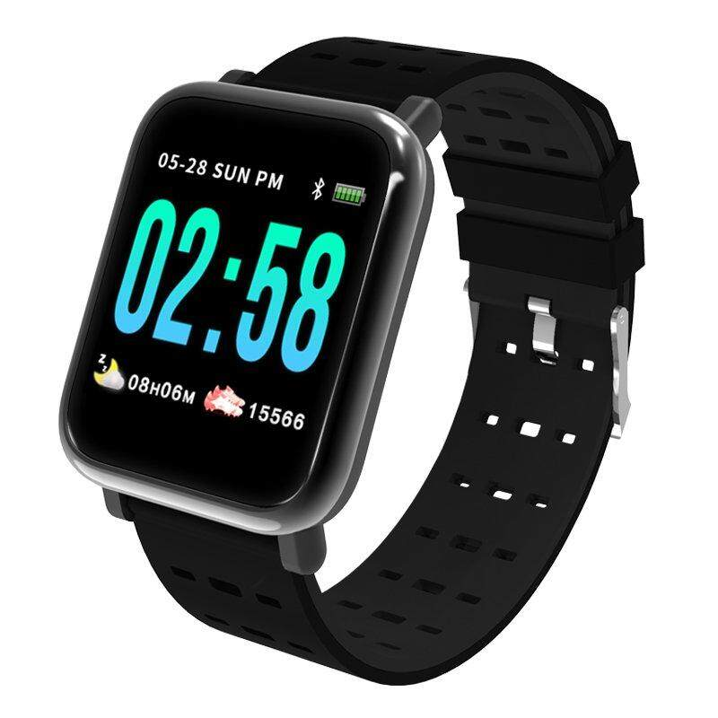 086c25477b A6 Smart Watch Blood Pressure Blood Oxygen Monitor Smart Bracelet Heart  Rate Smart Band Bluetooth Waterproof