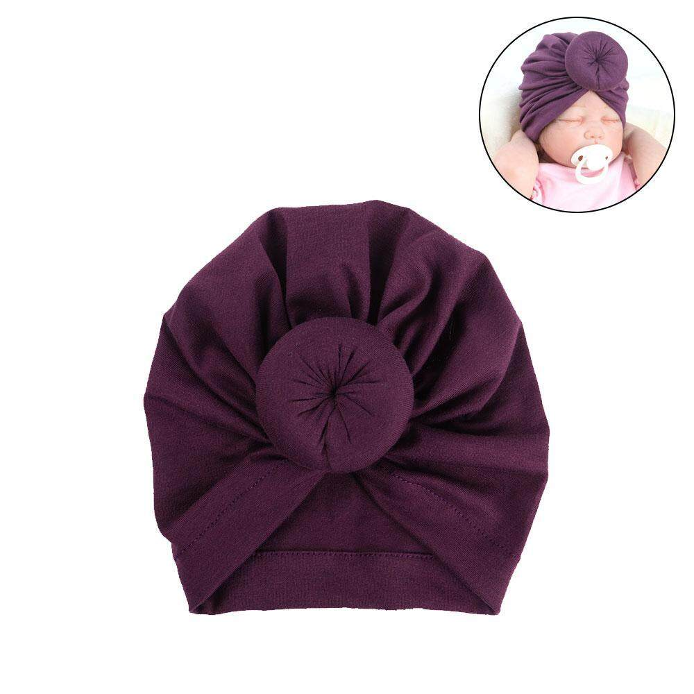 EterSummer Baby Indian Hat Donut Headband Toddlers Hedging Cap Cotton Soft Turban Baby Sleep Cap for