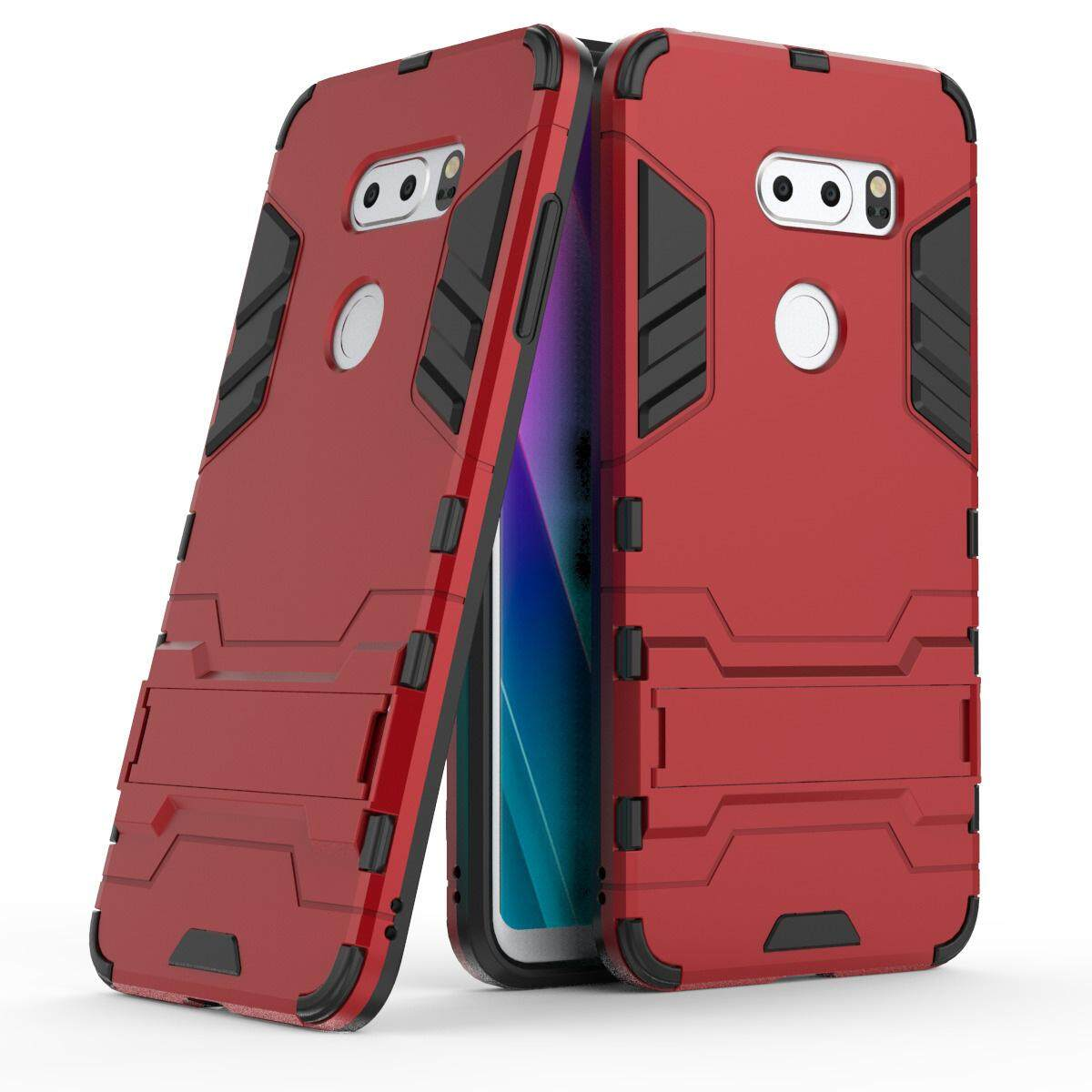 Hình ảnh for LG V30 Case 2in1 PC+TPU Hybrid Slim Back Case Ultra Thin Armor Cover, with Kickstand Holder, Glossy, Minimalist, Casual