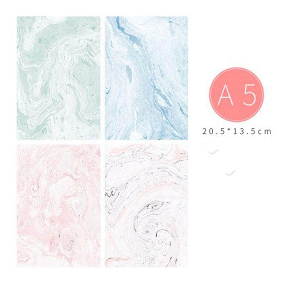 Redcolourful Cute Notebook Diary Marble Lines Notepad Sketch Graffiti Notebook for Drawing Painting (Random Color