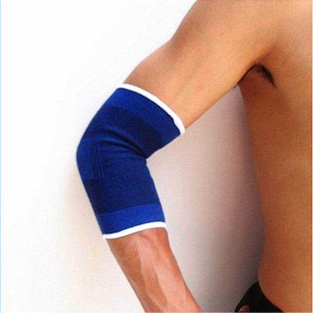 2PCS Elbow Protector Sports Health Protectors Polyester And Cotton Knitting Sports Care Warm Protective Gear - Blue