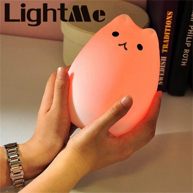 Bảng giá Cao cấp 7 màu ĐÈN LED mèo USB trẻ em đèn ngủ mềm dẻo Silicone Hoạt Hình Cho Bé Đi Nhà Trẻ LED hô hấp đèn Đèn Ngủ