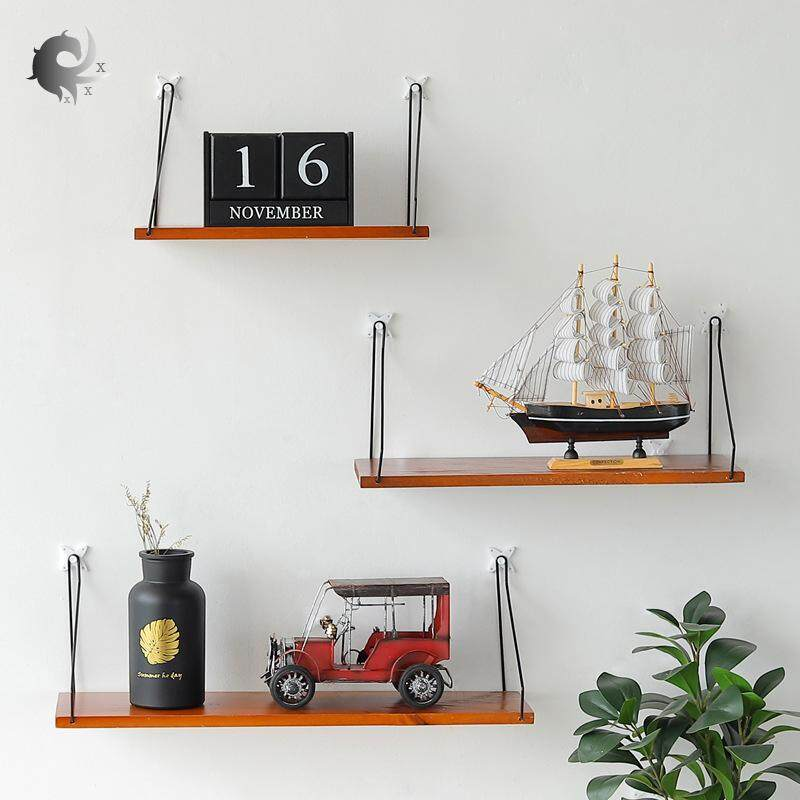 1pcs Wall decoration, wall hanging bookshelf free of punching, solid wood, wall shelf, wooden, word partition, creative home, high quality wood production (30cm, 40cm, 50cm)