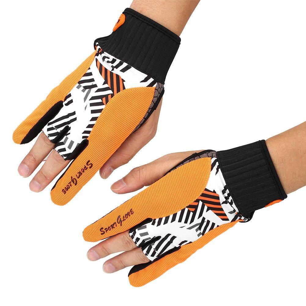 Aukey Sport Fitness Protective Semi-finger Bowling Ball Gloves Comfortable Non-slip - intl