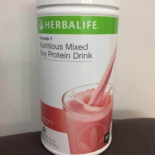 Herbalife Formula 1 (F1) Nutrition - Strawberry 550g (Ready stock) 100% Genuine