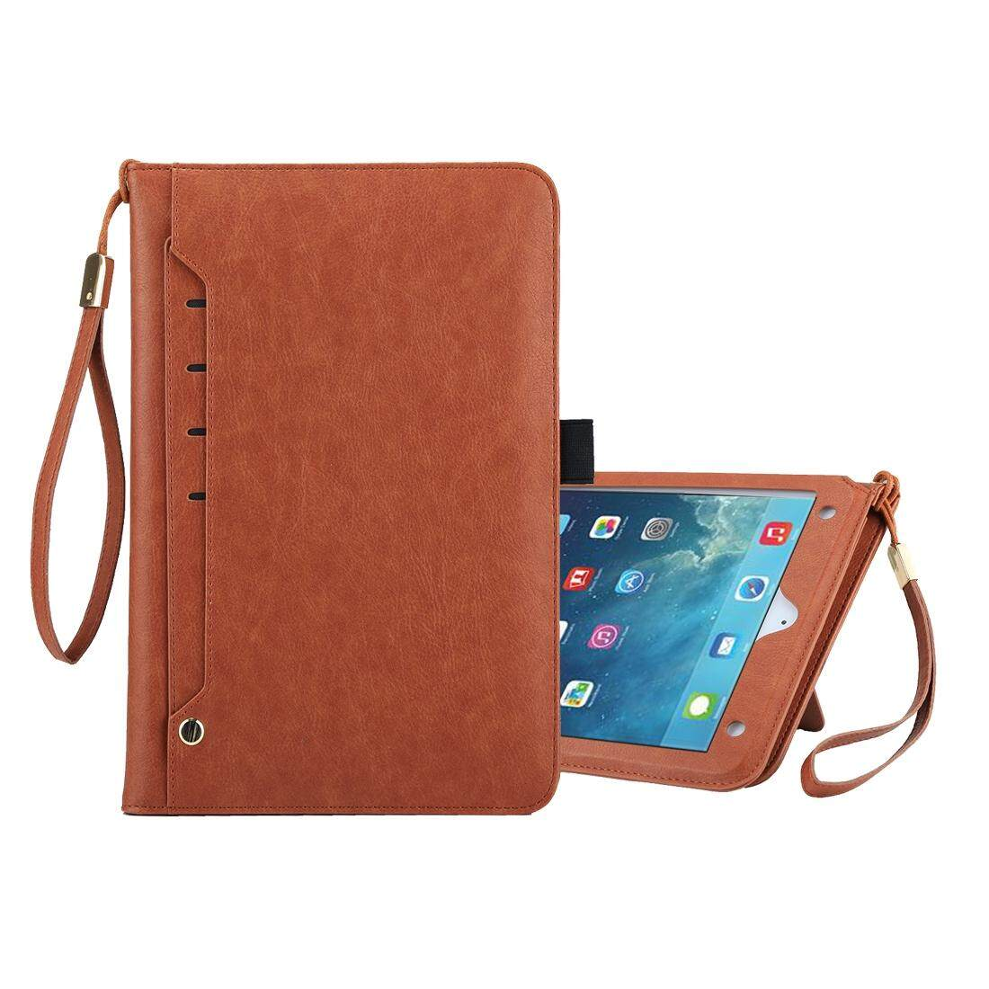 Universal Cowhide Texture Horizontal Flip Leather Case with Wallet and Card Slot and Holder and Lanyard and Sleep / Wake-up, For iPad 9.7 inch (2017), ...