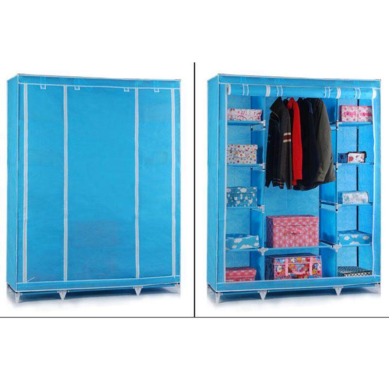 Simple Closets Non-woven Closets Folded Steel Pipe Closets Multi-functional Combination Storage Cabinet Closets - intl